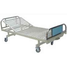 Cama de Hospita de acero recubierto con una sola función