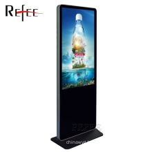 Hotel lobby advertising lcd screen 43 inch floor stand touch kiosk