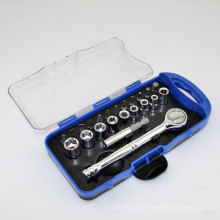 Bits do soquete do punho da catraca 23PCS ajustaram a ferramenta da mão