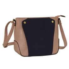 Long Shoulder Mini Lady Handbag with Contrast Colors