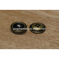 low MOQ bulk oval metal buttons for garment and bag