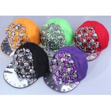 Hot Verkauf Mode Rock Design Strass Kristall niet Snapback Cap Hut für unisex