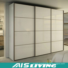 Melamine MDF Wardrobe Glass Sliding Door Closet (AIS-W017)