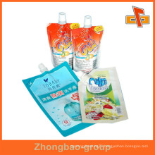 Nozzle Sachat Bag For Liquid Food Packaging Bags Stand Up Spout Pouch
