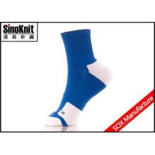Navy Blue Quarter Dri Fit Custom Athletic Socks , Big Size
