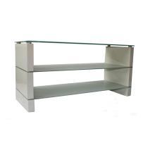 El último diseño de cristal de madera TV Display Cabinet / TV Stand