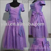 ED2019 новейшие Sleelves крышки длина до колена вечерние платья