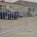 High quality electric galvanized crowd control barrier