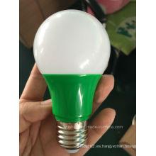 Bombilla LED Color A60 6W en Verde / Rojo / Azul / Amarillo