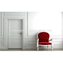 Luxus geformte weiße weiche Touch Weiß Matt lackierte Innentür