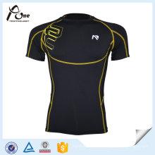 Camisas por atacado personalizadas da compressão do estiramento por homens