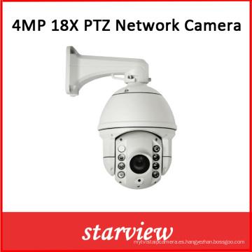 4MP 18X Zoom óptico de red PTZ IR Cámara domo