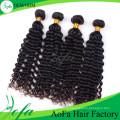 Оптовая Бразильский Глубокая Волна Девы Волос Выдвижение Человеческих Волос Remy