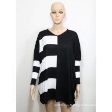 Chandail à col en V en tricot Viscose Lady Fashion (YKY2001)