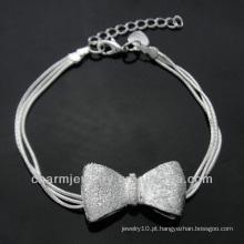 Hot venda encantos encantadores pulseira de prata 925 para meninas BSS-023