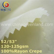 Rayon Crepe tecido para vestuário de t-shirt da mulher (GLLML432)