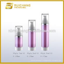 15ml / 30ml / 50ml bouteille sans air, bouteille cosmétique sans air, bouteille de pompe à cosmétiques à double tube