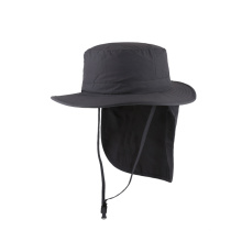Chapéu de balde de tecido de nylon com capa