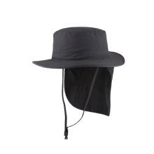 Nylon fabric bucket hat with cape