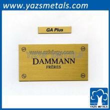 Customizelabels, étiquettes personnalisées de plaque propriétaire de nom de métal de haute qualité