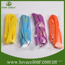 Custom cheap colorful printed polyester shoelaces