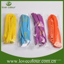 Пользовательские дешевые цветные печатные полиэфирные шнурки