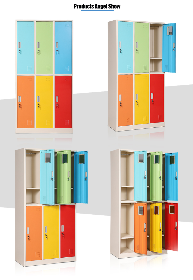 Color steel furniture 6 door metal locker