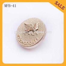 MFB41 Custom shank metal alloy ladies garment coat buttons 18mm