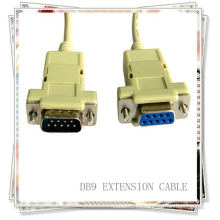 Cable DB9 Cable Beige macho a hembra cable grave