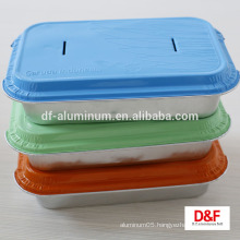 Disposable aluminum foil airline lunch/meal box
