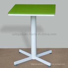Table de salle à manger carrelée en verre de restaurant professionnel (SP-RT498)