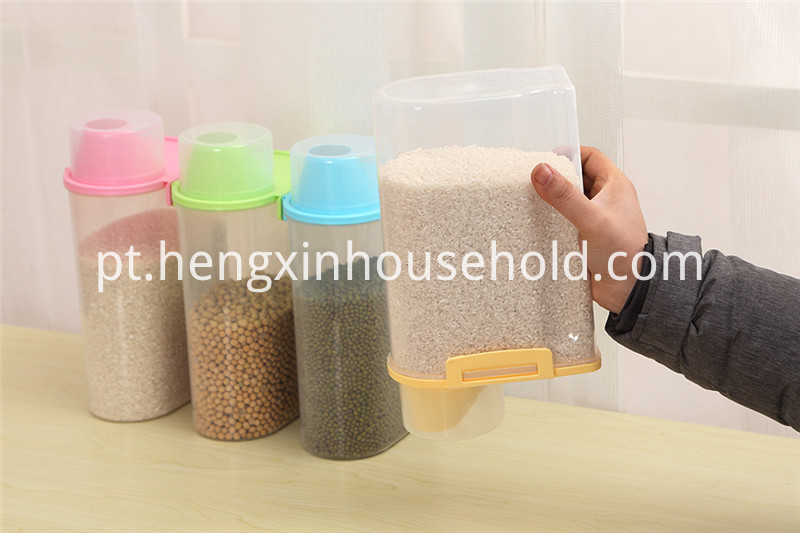 plastic grain container