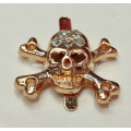 Individuality Person Cranial Head Metal Buckle for Decor