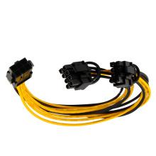6pin PCI-E PSU para 8pin PCI-E Cable
