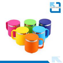 Taza de leche recta de acero inoxidable anti-caliente y duradera y taza de agua para niños
