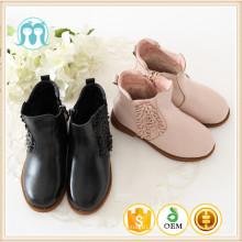 Hersteller billig Kinder pvc Kinder Winter Boot mit Süßigkeiten und schwarze Farbe Herbst Stiefel / Schuhe