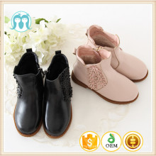Manufacturer cheap kids pvc children winter boot with candy and black color autumn boots/shoes