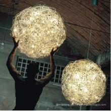 Lámpara colgante moderna bola de latón (kam008)