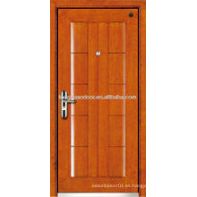 Puerta blindada de madera de acero de la fábrica, puerta blindada de la seguridad