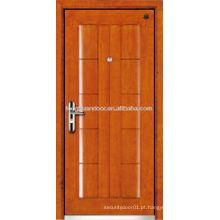 Fábrica de porta blindada de madeira de aço, porta blindada de segurança