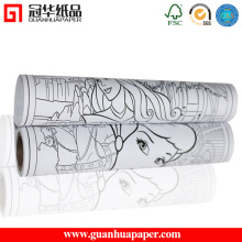 SGS Factory 80 GSM Printed Drawing Paper Roll