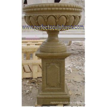 Stone Marble Garden Planter for Flower (QFP343)