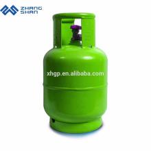 Remplissage d'une mini bouteille de gaz GPL de 5 kg avec poêle