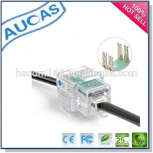 AUCAS cat6 UTP factory price module /hot sell keystone jack network module/ AMP Dual IDC 90 degreejack module/