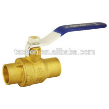 UL Solder Brass Ball Valve Leaded or Lead free