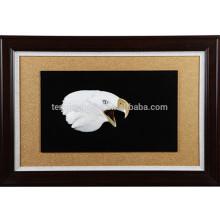 Mur décoratif MOP Eagle Head Shape Picture avec cadre en bois