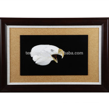 Wall Decorative MOP Eagle Head Shape Picture with Wooden Frame
