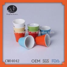 Taza de café italiana de cerámica, mini taza de café sin mango
