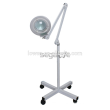 5X adjustable floor stand steamer magnifying lamp