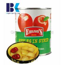 Confiança do consumidor de maçã enlatada